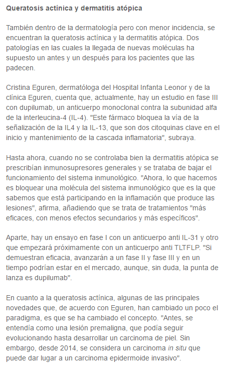 gaceta médica dermatologo madrid