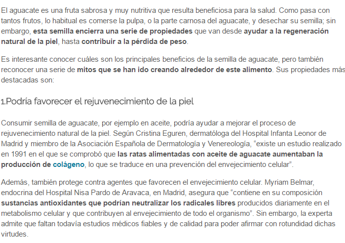 aguacate dermatologo madrid